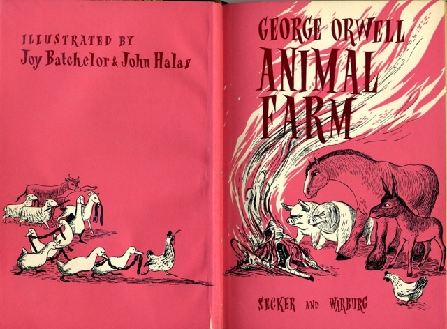 Animal Farm book cover 1954