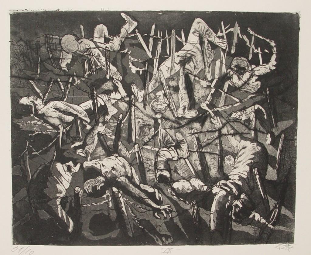 Otto Dix – Totentanz anno 17 (Höhe toter Mann) / Der Krieg 1924