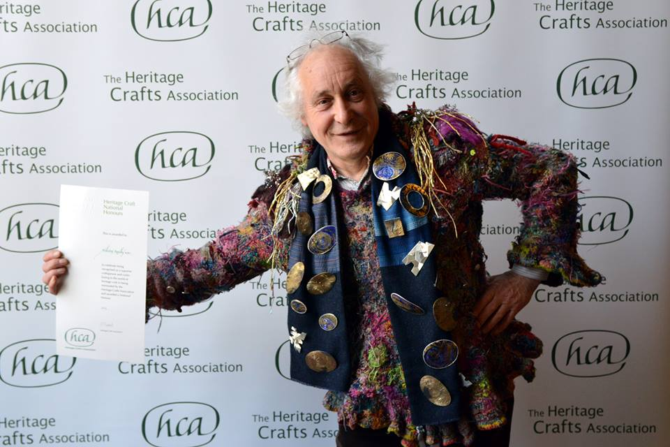 Malcolm Appleby MBE with his Heritage Crafts Award 2015