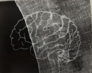 György Kepes, 1906-2001 Gauze and Brain Photogram c.1939-1940, image: 204 x 252 mm © estate of György Kepes. Image courtesy Wilson Centre for Photography