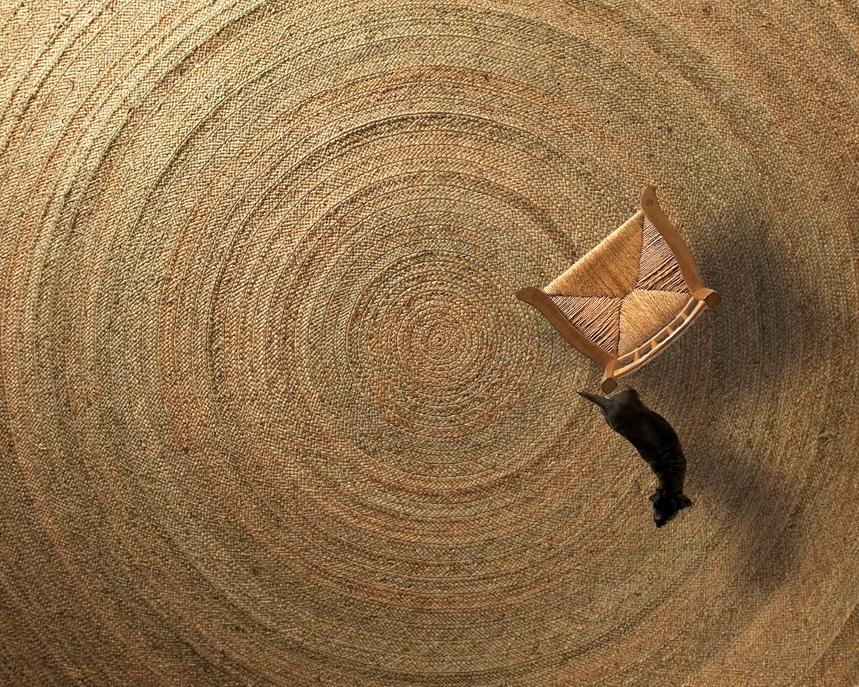 rush matters handwoven circular mat_w