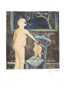 Mère et Fils (Mother and Son), 2008, Aqua teinte rehaussable, Epreuve Artiste, Fabriano Artistico, approx (245x225) overall 380x280mm, originals and fine art prints available