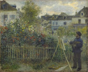 Pierre-Auguste Renoir, Claude Monet Painting in His Garden at Argenteuil, 1873_w