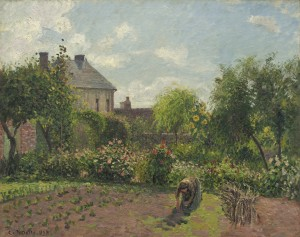 Camille Pissarro (French, 1830 - 1903 ), The Artist's Garden at Eragny, 1898, oil on canvas, Ailsa Mellon Bruce Collection
