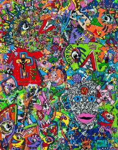 Jean-Marc Calvet, Lazarus, 165x130cm, acrylic on canvas