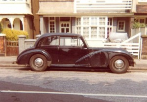 George Israel AC Saloon outside 18 Ferry Road Barnes