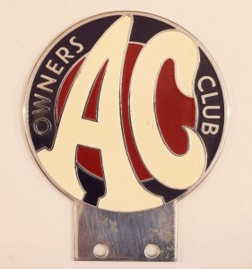 George Israel's AC Owners Club badge