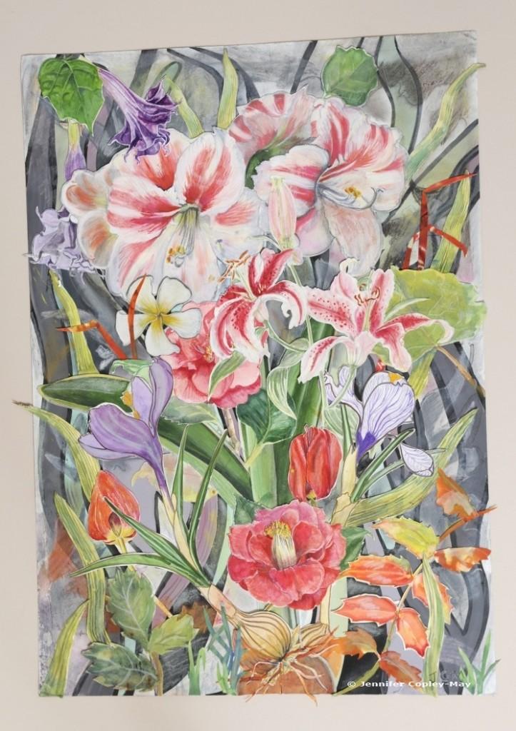 Floral Bouquet collage