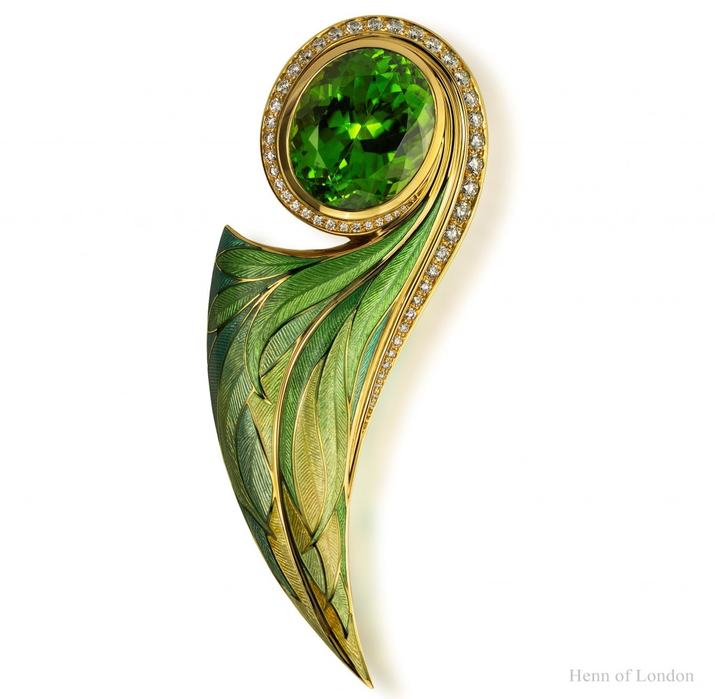 Henn of London Peridot Pendant Brooch