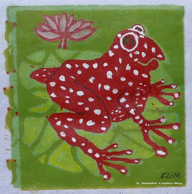 Jennifer Copley-May The Frog Red_Green_silver