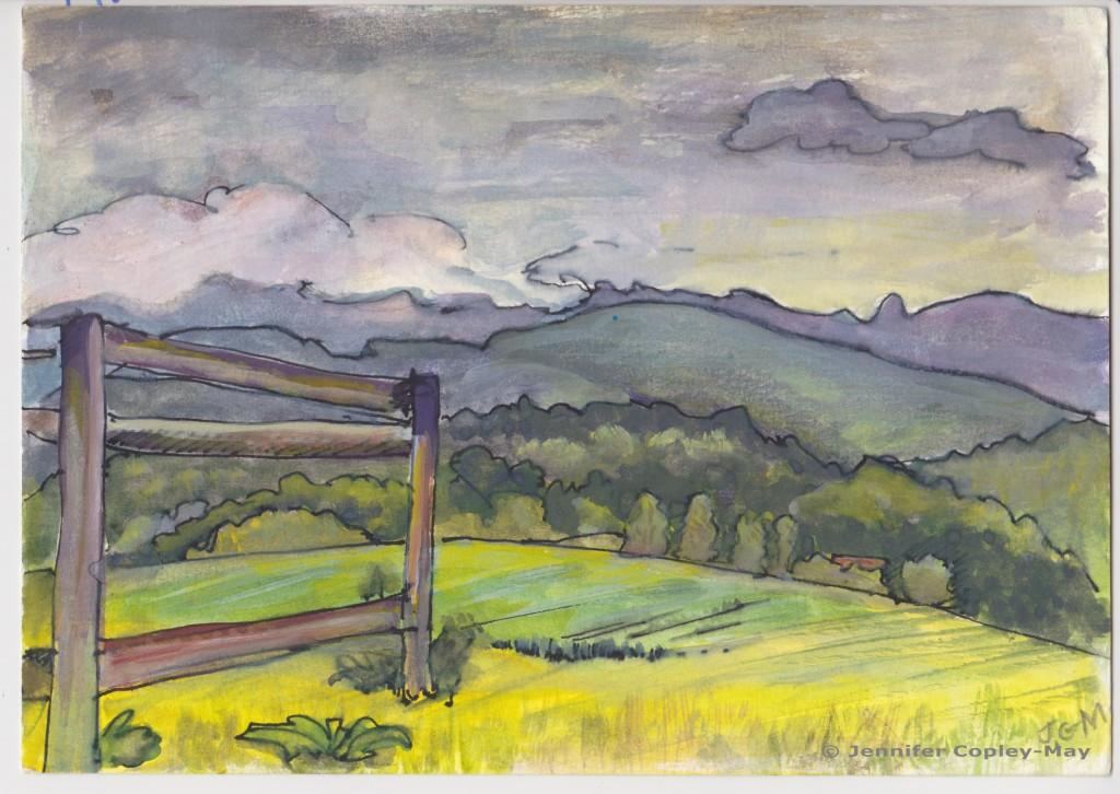 Jennifer Copley-May The Open Way - watercolour