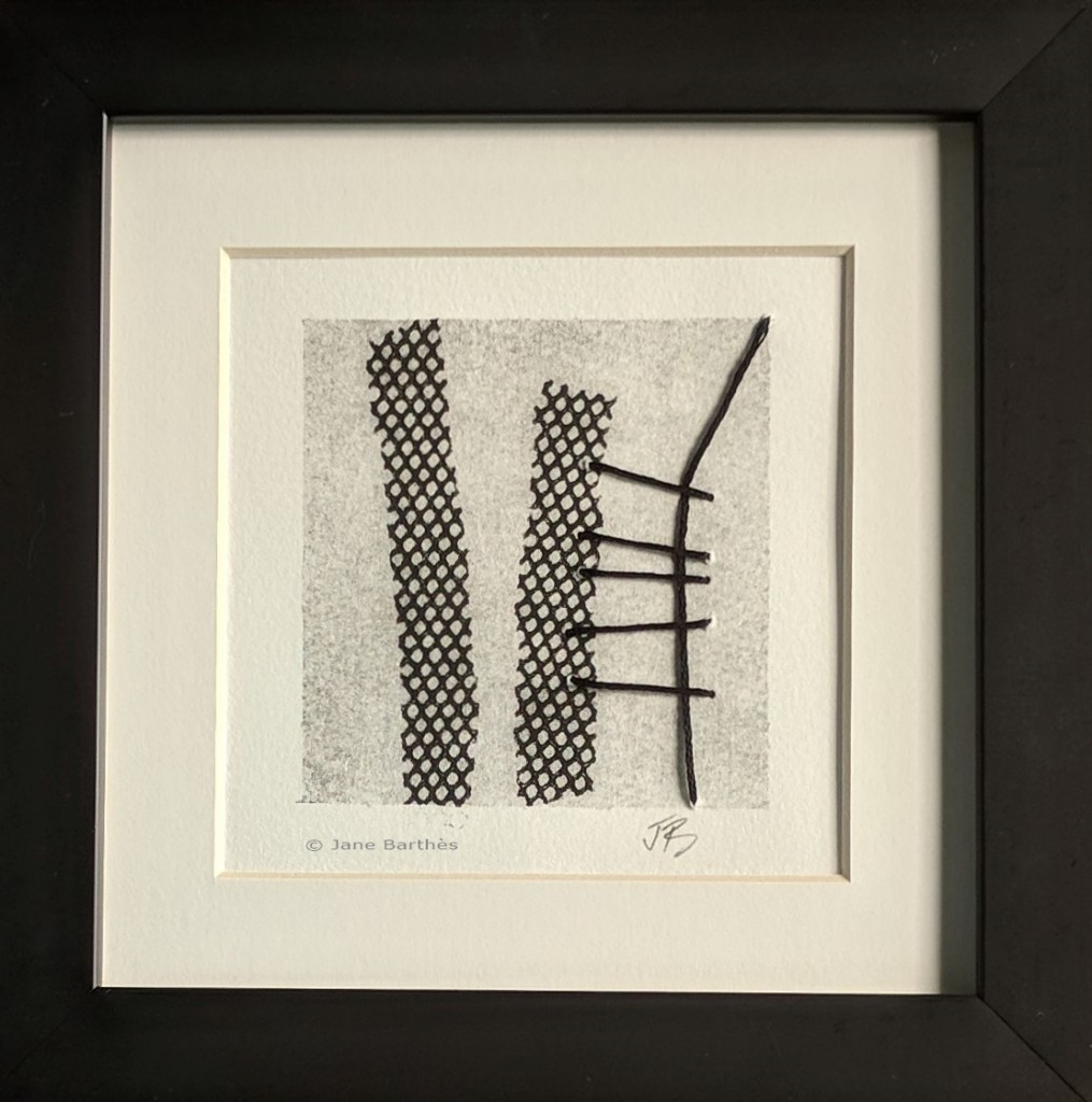 Jane Barthès framed Monoprint F#3_wm