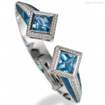 Ingo Henn, White Gold Aquamarine Bangle