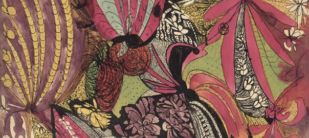 madge gill floral abstract