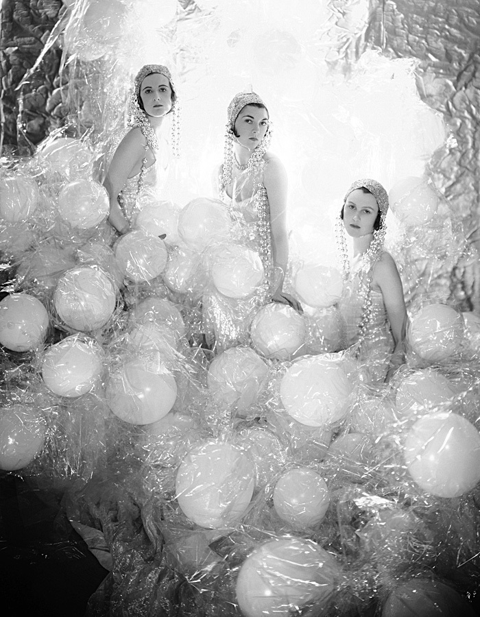 The Soapsuds Group, (left to right) Baba Beaton, Wanda Baillie-Hamilton, and Lady Bridget Poulett, at the Living Posters Ball, 1930, photograph by Cecil Beaton. Courtesy of The Cecil Beaton Studio Archive, Sotheby's