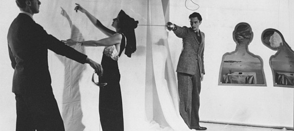Salvador Dalí and Gala Dalí with Artist Pavel Tchelitchew, photograph by Cecil Beaton, 1936. Courtesy of The Cecil Beaton Studio Archive, Sotheby's