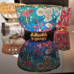 Alexandra Raphael, Plique-à-jour, vitreous enamel, Goldsmiths Company Gallery, photo: Emma Boden