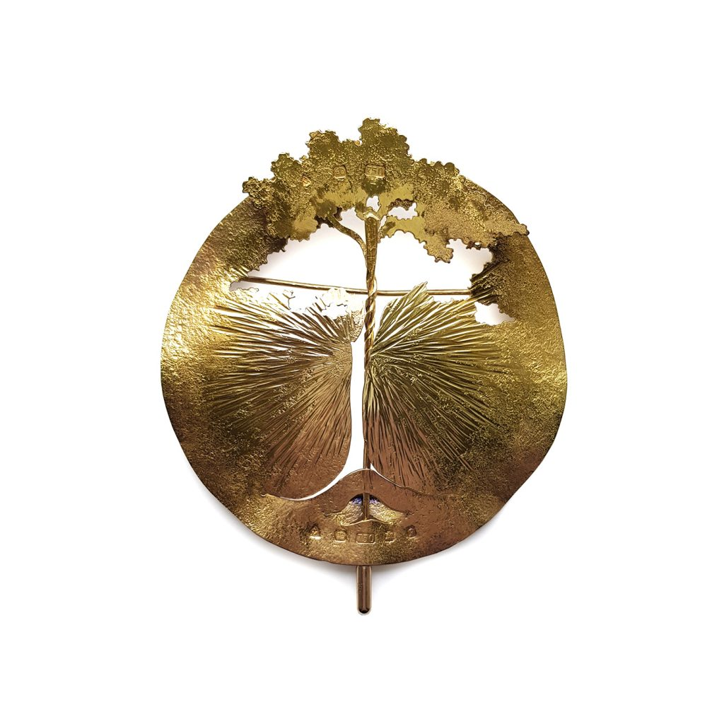 Malcolm Appleby_Tree Brooch & Pin_1989_18ct gold_H9.5xW8cm